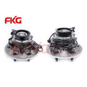 2wd Pair Front Wheel Hub Bearing For 2004-2008 Chevy Colorado Z71 W/abs 6 Lugs