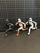 2009 Hallmark Ornament Shock Trooper And Shadow Trooper Sdcc + 2005 Blue Loose