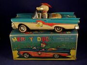 Vintage Rare Tin Toys Car Ford Fairlane Convertible Merry Duck Alps 50's Boxed