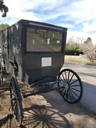 Authentic Amish Carriage / Buggy Black Foot Brake Amish Horse Drawn Carriage