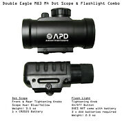 De M83/m84 Red Dot Scope And Flash Light Combo Set Airsoft Aeg Replacement Parts