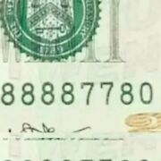 2013 20 Fancy Lucky 88888 Serial Numbr 8888 77 80 Almost Binary Note Bill