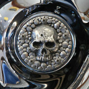 Skull Points Cover In Aged Aluminum Finish. Harley Twin Cam. Pcsa-1