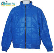 New Nike Mens Ad Athletic Dept Light Insulated Quilted Jacket Azure Blue M