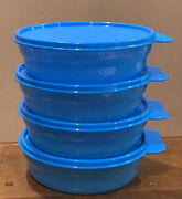 Tupperware Microwave Reheatable Cereal Bowls-in Blue Color