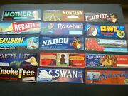 Original Vintage Crate Labels Lot Of 60 Vg -mint Unused Collection Group 5 Of