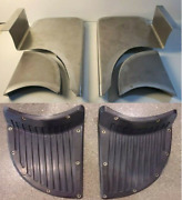 Chevrolet Chevy Gmc Coe Running Fender Step Plates And Pads 1939 - 1946 Smooth