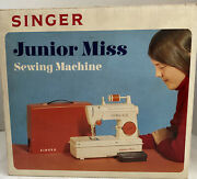 Singer Junior Miss Sewing Machine 67-b-24 With Manual - Serviced