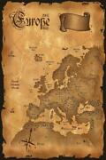 345478 Europe Antique Map Glossy Poster Us