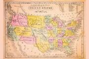 345547 United States Antique Map Glossy Poster Us