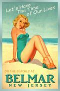 349179 Belmar Beach Monmouth County Jersey Pin Up Glossy Poster Us