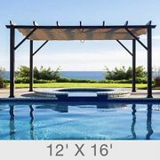 12and039 X 16and039 All Season Aluminum Pergola With Top Cover New Ship From Factory