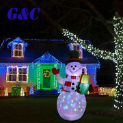 5ft Christmas Inflatable Led Light Up Snowman Xmas Airblown Holiday Decoration