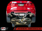 Awe Tuning Touring Edition Exhaust Quad Outlet - 80mm Chrome Silver Tips For Bmw