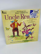 Disney Uncle Remus 1963 Song Of The South Soundtrack Record