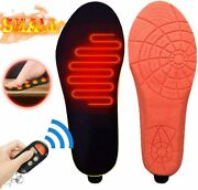 Electric Heated Insoles Foot Warmer 3 Heat Levels W/remote Control Skiing Hiking