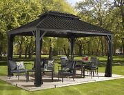 Sojag Messina Steel Roof Sun Shelter 10 X 12 With Netting New Ship From Factory