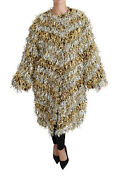 Dolce And Gabbana Jacket Gold Silver Trenchcoat Cape Cardigan It40/us8/m Rrp 3000