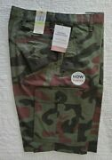 New Mens Dockers Cargo Shorts With Stretch Camo Green Camouflage 30 32 33 34 36