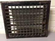 Vtg Victorian Metal Wall Floor Mounted Grille Grill Heat Grate Register W/louver