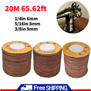 20m Leather Belt Vintage Treadle Parts For Butterfly Feiren Bee Sewing Machine