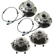 Wheel Hubs Set Of 4 Front And Rear Left-and-right Lh Rh For Nissan Armada Qx56