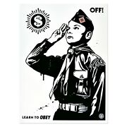 Shepard Fairey - Learn To Obey - Signed And Numbered