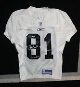 Tim Brown Signed And Inscribed 2003 Oakland Raiders Practice Jersey W/psa/dna Coa