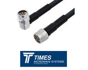 Lmr-400 Times Microwave Coaxial Cable Assembly N Male Connectors Straight 90 Deg