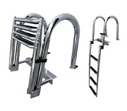 Pactrade Marine Boat Ss304 Telescoping 4 Step Inboard Swimming Pool Dock Ladder