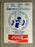 European Junior Weightlifting Championships 1980 Vintage Poster Italy
