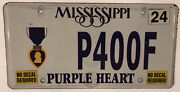 Purple Heart Combat Wounded License Plate Military Ww2 Army Korean Vietnam War