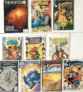 Lot Of 10 Comic Books Superman Sonic Justice League Collectibles Green Arrow