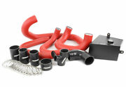 Perrin Front-mount Intercooler Kit For 15-17 Wrx - Silver Core, Red Piping