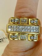 Menandrsquos 14k Heavy Solid Gold Diamonds Ring Make Offer