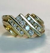Menandrsquos 14k Heavy Solid Gold 1.00 Ct Diamond Ring Make Offer Very Cool Ring