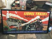 Lionel Trains Large Color Train Poster Framed From 1948 - Approx. 3andrsquo X 6andrsquo
