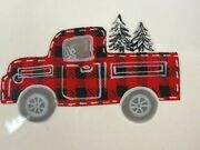 North Pole Christmas Dish 8.5 Red Vintage Truck Merry Ceramic Serving Bowl