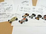 Hot Wheels Deuce Roadster Prototype And 1st Shot Pre-production