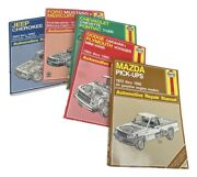 Haynes Auto Repair Manual -lot Of 5 Car Fix Workshop Used - Acceptable Condition