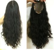 3 Months Custom 100 High Quality Human Hair Wavy Topper Falltop Piece 7x8