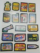 1982 Topps Wacky Packages Album Stickers Lot Of 17 Camals Cigarettes And More