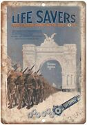 Life Savers Candy Mint Vintage Ad 12 X 9 Reproduction Metal Sign N423