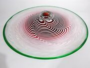 Vtg Martin Blank Hand Blown Glass Ceiling Light Fixture Disc Chihuly Studio 27