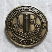 Authentic 314th Airlift Wing Little Rock Afb Jacksonville Ar Rare Challenge Coin