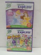 Leap Frog Leapster Explorer Lot 2 Disney Princess Mr. Pencil Learn Pad 4-7 Years