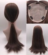 3months Custom 100 High Quality Human Hair Hand Tied Topper Top Piece 7x8