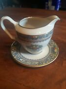 Lenox Autumn Gold Stamp Creamer And Plate
