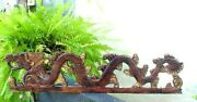 Architectural Wood Carved Temple Dragon,good Luck,protection,feng Shui Luck Home