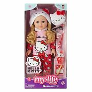 My Life As 18 Poseable Hello Kitty Doll, Blonde Hair With Accessories New